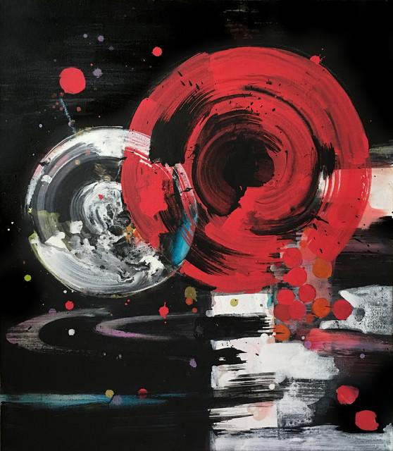 LONU, Painting, Acrylic on Canvas 32hx28w