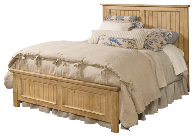 Kincaid Homecoming Solid Wood Queen Panel Bed, Vintage Pine.