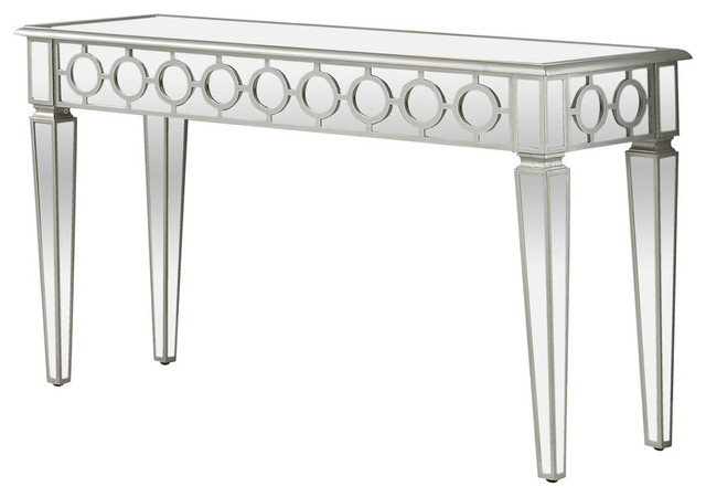 Sophie Silver Mirrored Sofa Table
