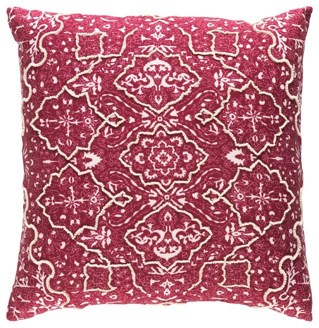 Batik Pillow 22x22x5, Down Fill.