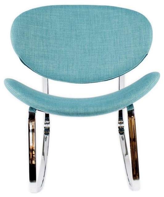 Neo Rocking Chair Blue-m2 by Sovo Furniture