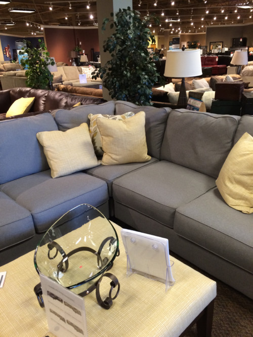 Wall Color For Dark Gray Couch With Yellow Accent Pillows