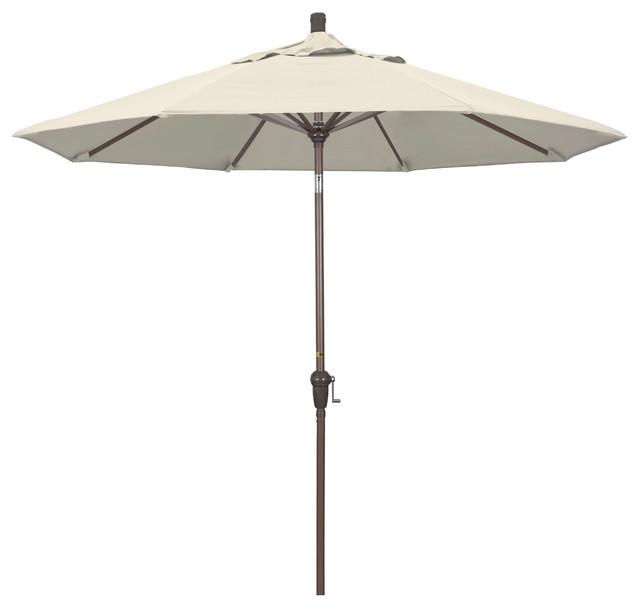 Sadie Auto-Tilt Umbrella, Light Beige Olefin, 9'