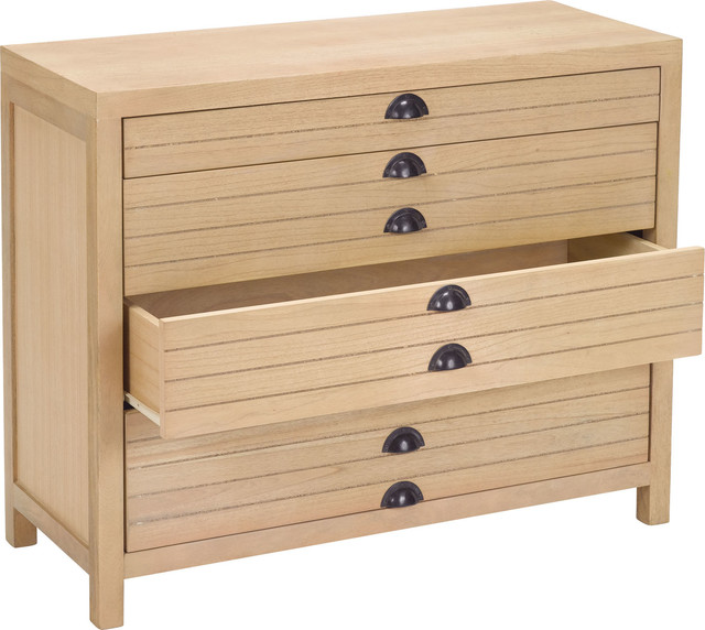 4-Drawer Flat File Cabinet, 150024 - Transitional - Filing Cabinets - by HedgeApple