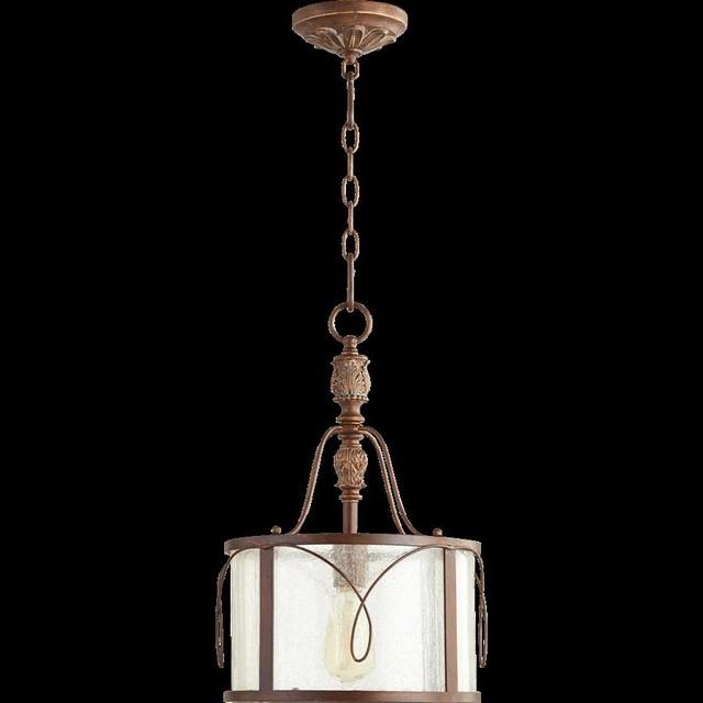 Quorum Salento 1-Light Pendant, Vintage Copper.