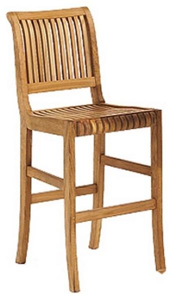 Teak Outdoor Giva Bar Armless Chair Craftsman Outdoor