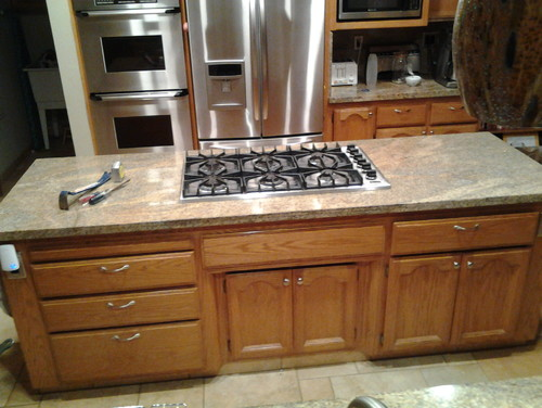 Replacing A Drop In Cooktop With A Range Top In A Granite