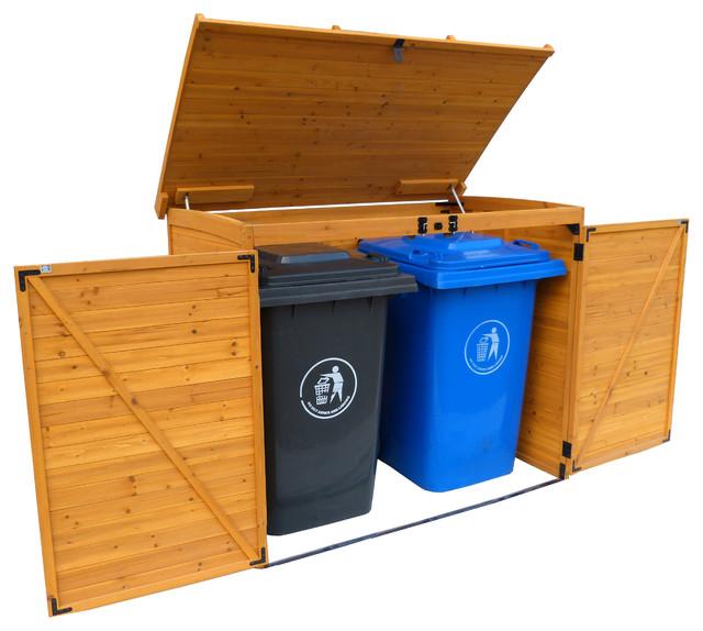 Large Horizontal Refuse Storage Shed - Transitional - Outdoor Storage - by Leisure Season Ltd.