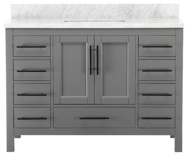 Kendall Gray Bathroom Vanity, 48""