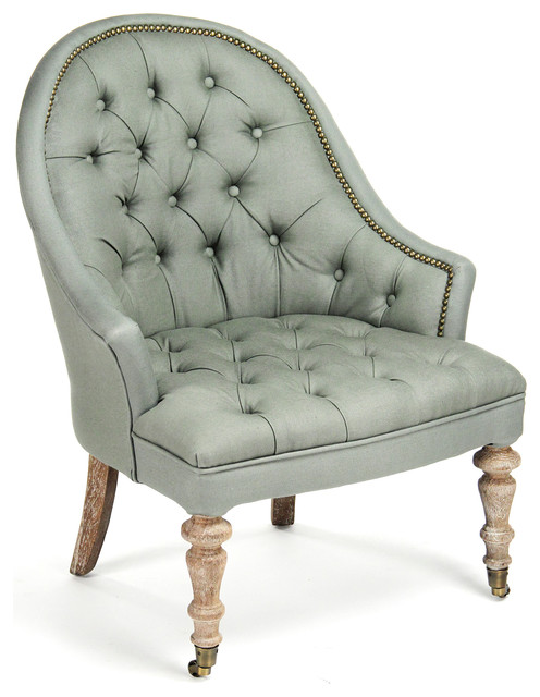 Sensational Isolde French Country Sage Moss Tufted Accent Club Chair Gmtry Best Dining Table And Chair Ideas Images Gmtryco