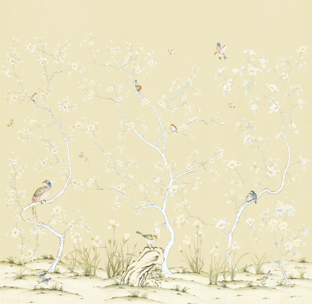 Chinoiserie wall mural lavena asian wallpaper by for Chinoiserie mural wallpaper