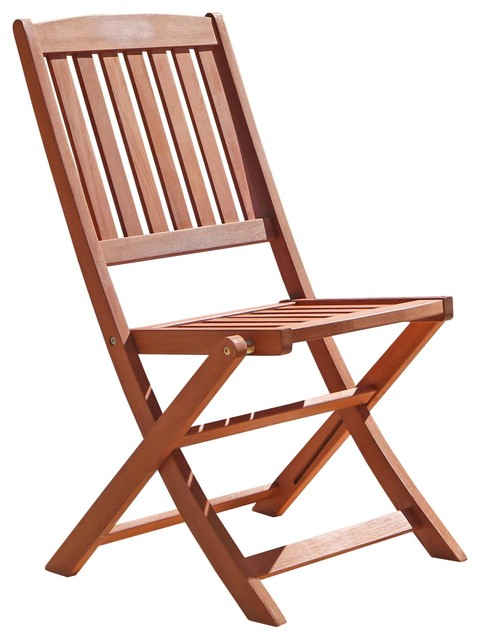 Outdoor Wood Folding Bistro Chairs Set Of 2