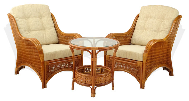 Jam Set Of 2 Rattan Wicker Chairs With Cushions And Coffee Table Colonial Colo