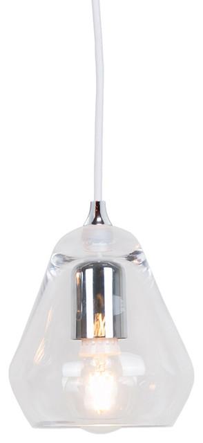 Innermost Modern Core Pendant Light, Clear Glass.