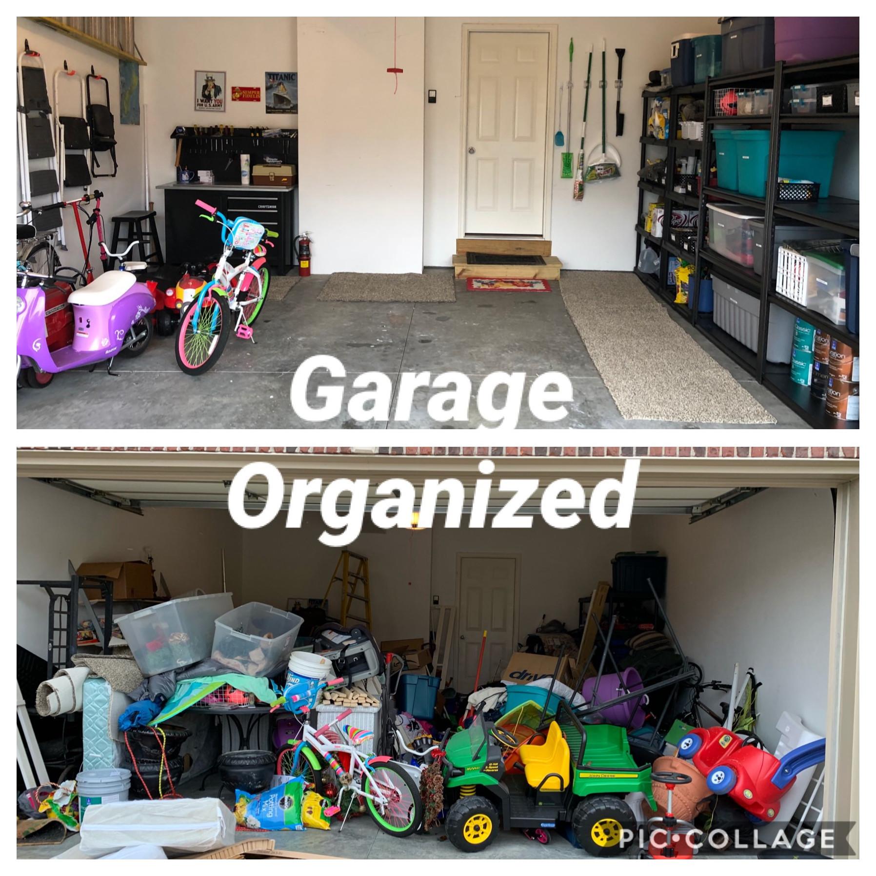 Garage before & after