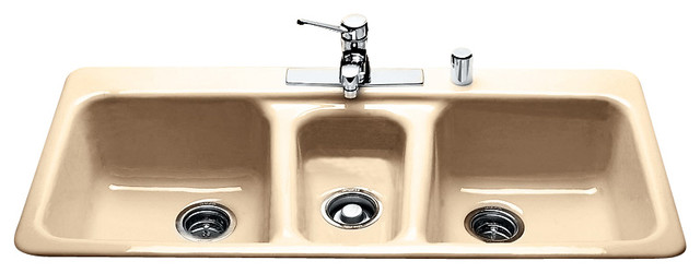 triple bowl   self rimming contemporary kitchen sinks triple bowl   self rimming   contemporary   kitchen sinks   by      rh   houzz com