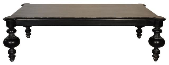 Graff Coffee Table, Hand Rubbed Black.