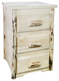 Montana Collection Nightstand With 3-Drawers, Ready to Finish