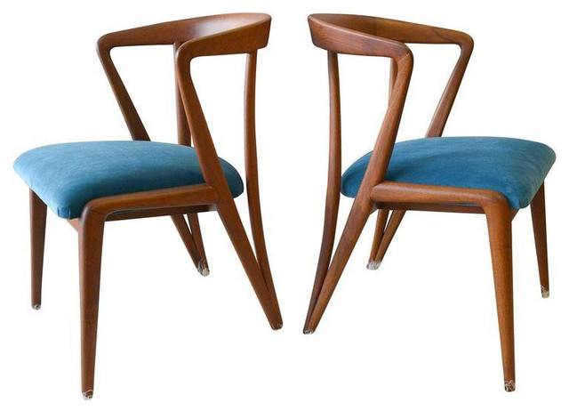 Awesome Vintage Bertha Schaefer/Gio Ponti Chairs   A Pair Midcentury Dining Chairs