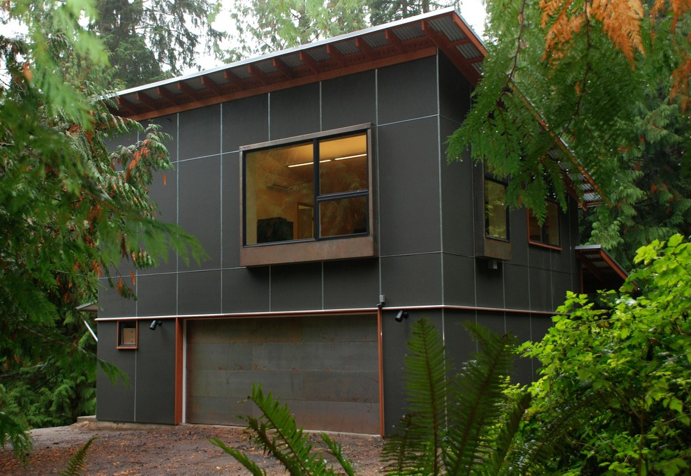 Inspiration for a contemporary home design remodel in Seattle