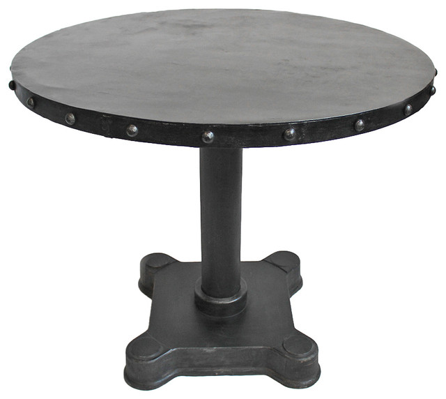 Industrial Iron Round Dining Table Traditional Dining  : traditional dining tables from www.houzz.com size 640 x 572 jpeg 42kB