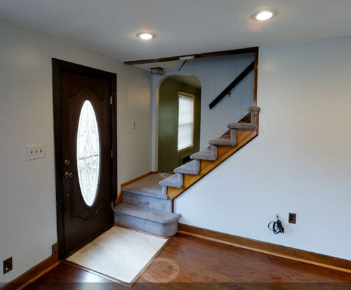 How Should I Change Staircase That Opens To 2 Rooms? Ideas Please!