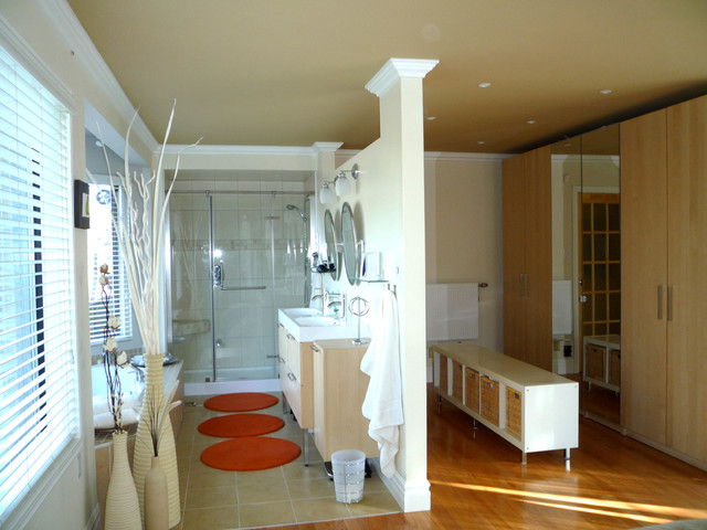 Inspiration For An Eclectic Bathroom Remodel In Montreal