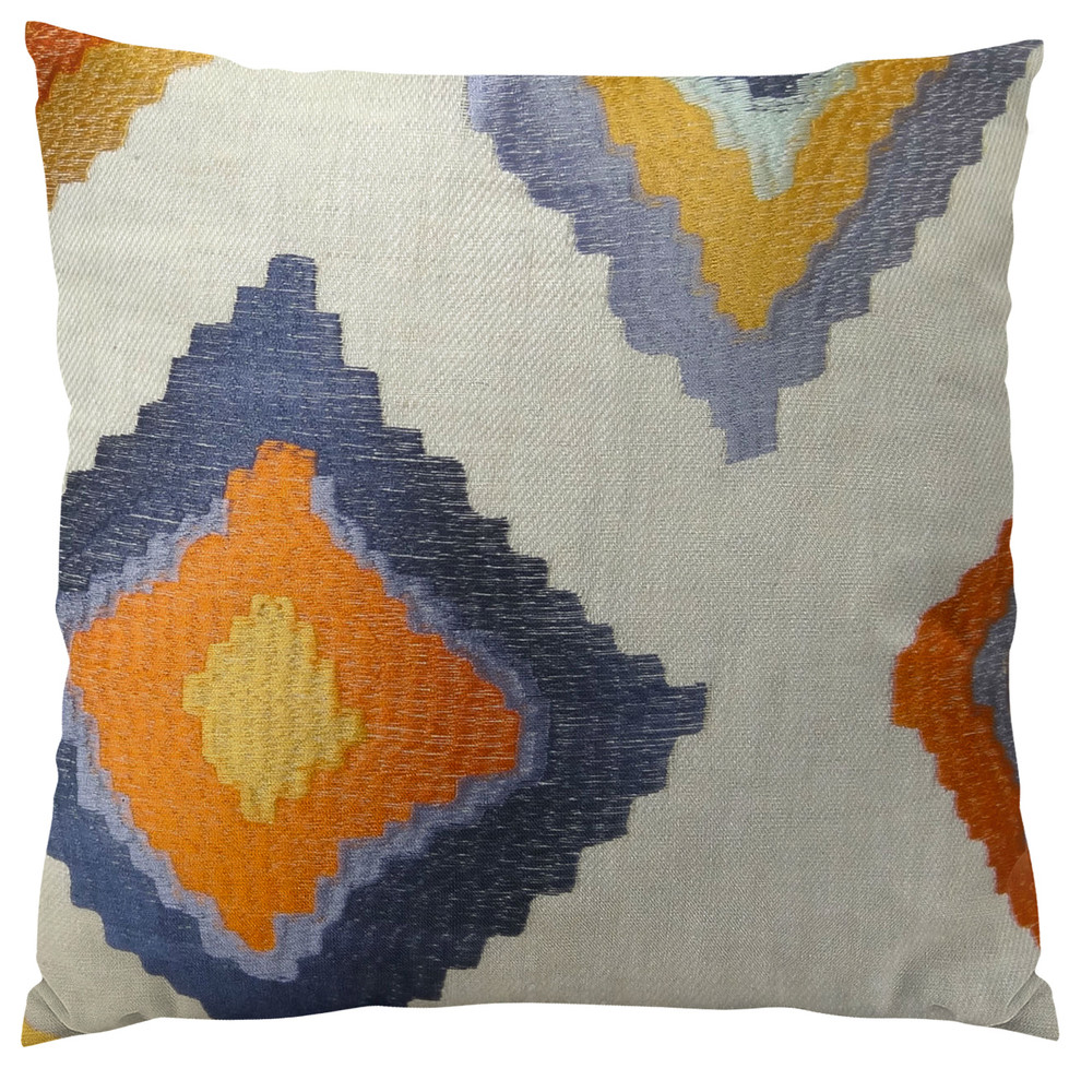 Plutus Native Trail Cayenne Handmade Throw Pillow Contemporary Decorative Pillows By Plutus Brands