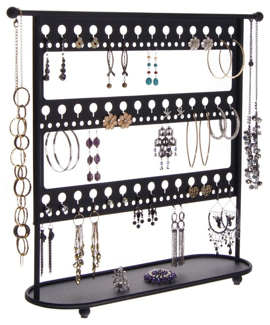 Large Long Earring Holder Stand Jewelry Organizer Laela Traditional Bo And Organizers By Angelynn S