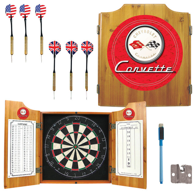 Corvette Dart Cabinet Set in Red - Contemporary - Darts And Dartboards - by ShopLadder