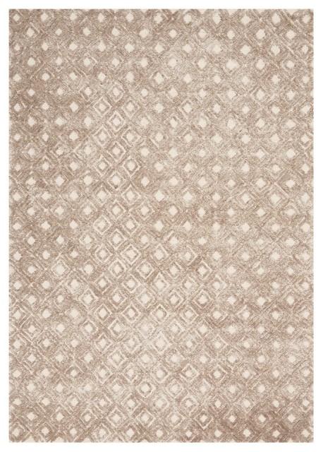 Nourison Modern Deco Area Rug, Taupe, 9&x27;6x13&x27;.