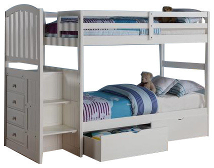 Bunk Bed Stairs In Twin Over Full.