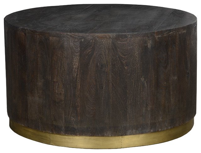 Andy Round Coffee Table By Kosas Home Transitional Tables