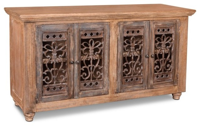 Keystone Metalwork Door Console Cabinet Farmhouse Buffets And Sideboards