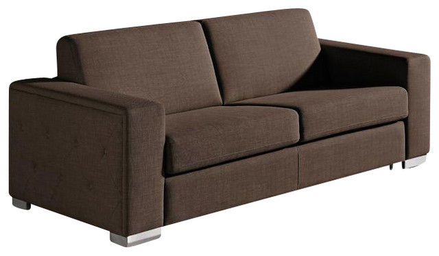 Beau Divani Casa Mineral Modern Brown Fabric Sofa Bed
