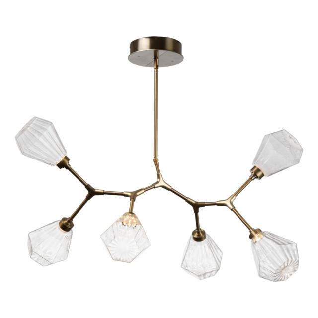 Hedra Modern Branch 6-Piece, Gilded Brass, Optic Twist Amber