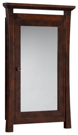 Ronbow 616025 Shoji Medicine Cabinet Bathroom Storage, Vintage Walnut.