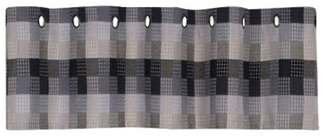 Harvard Window Curtains Tier, 57x36 Black, Set Of 2.