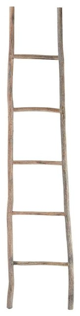 Dimond Home Wood White Washed Ladder, Large.