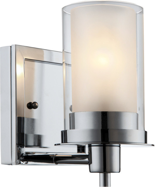21 0379 1 Light Chrome Wall And Bath Fixture Contemporary Bathroom Vanity Lighting By Hrd