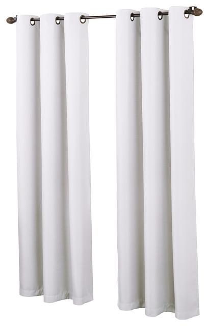 Montego Grommet Textured Curtain Panel, White, 48x84.