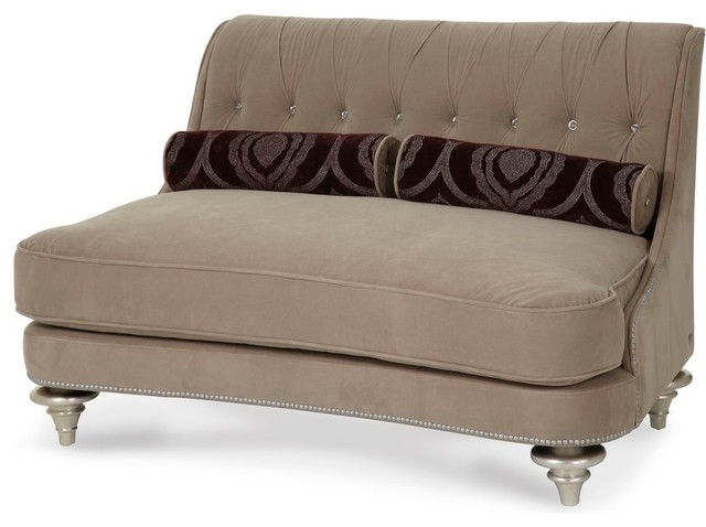 Aico Hollywood Swank Settee, Taupe.
