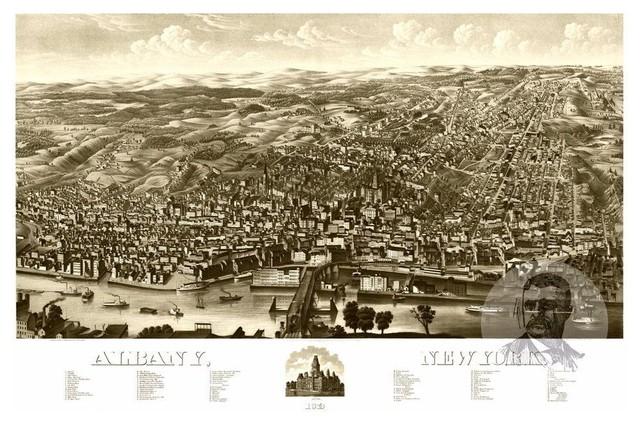 Historic Albany Ny Map 1879 Vintage New York Art Print