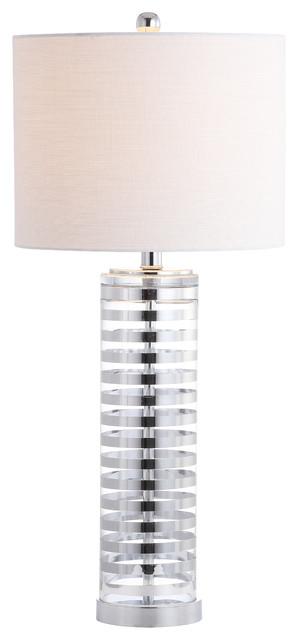 Thompson 29.5 Glass Table Lamp, Clear/chrome.