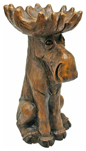 Moose Garden Statue   Tray Organizer Traditional Garden Statues And Yard