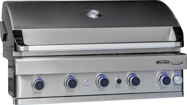 Turbo Elite 5 Burner Built In Gas Grill Contemporary