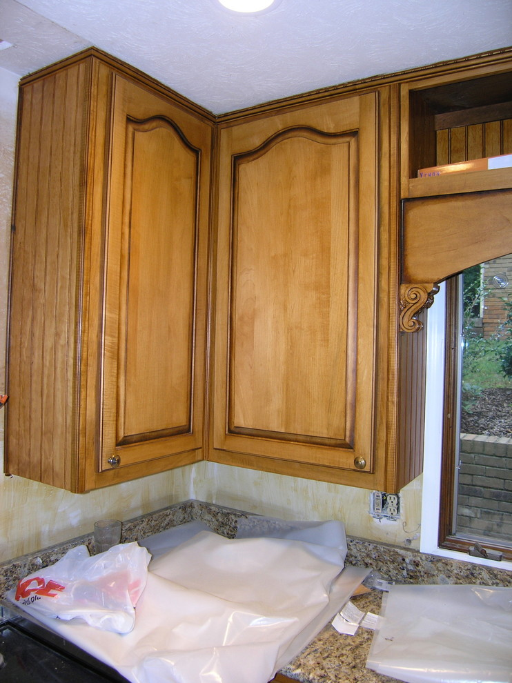 New doors with custom stain,,Bead board sides.