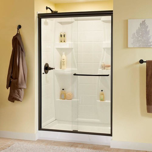 Clear or obscure glass for fiberglass shower stall in master bath?