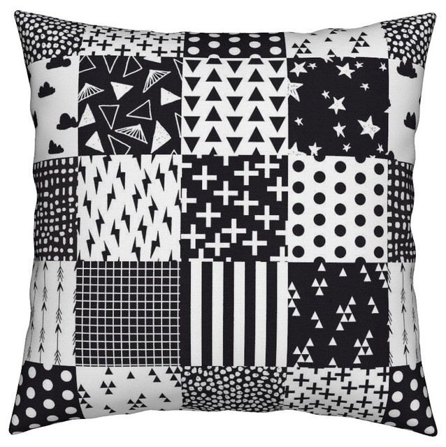 Baby Cheater Squares Nursery Throw Pillow Cover Velvet