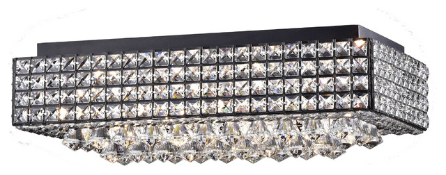 Echion 8-Light Black Flush Mount.